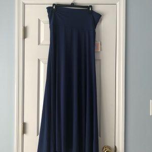 Blue LulaRoe Maxi Skirt NWT